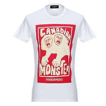 Dsquared2 Canadian Monster camiseta blanca