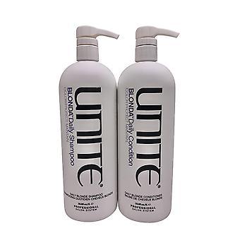 Unite Blonda Daily Shampoo & Blonda Daily Hoitoaine Set 33.8 OZ Kukin