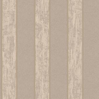 Sirpi Seren Stripe Pattern Brown Wallpaper Striped Textured Glitter Italian Heavy Weight