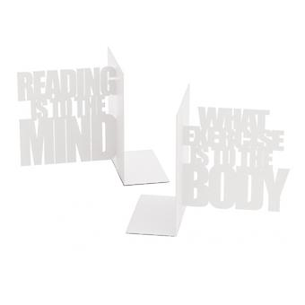 Bookend Mind Übung 15 x 20 cm Metall weiß