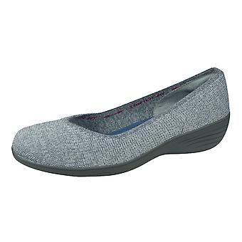 Skechers Kiss Canoodle Womens Slip on Walking / Casual Shoes - Gris