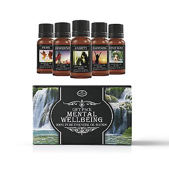 Mystic Moments Mental Wellbeing Essential Oils Blend Gift Pack