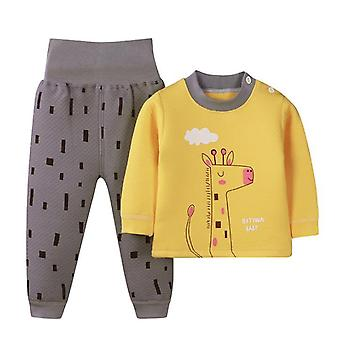 "Children""s Thermal Underwear Suits Baby Boys Girls Cute Cartoon Clothes Winter"