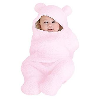 Soft Baby Blankets Newborn Infant Baby Swaddle Sleeping Wrap Newborn Gown (pink