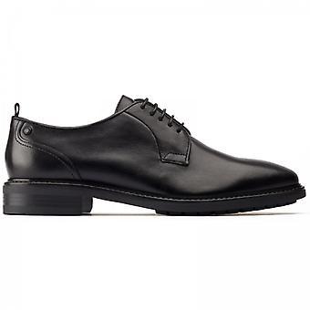 قاعدة لندن بوسطن Mens الجلود ديربي أحذية الأسود