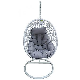 Rocking chair, hanging cocoon Luxury white
