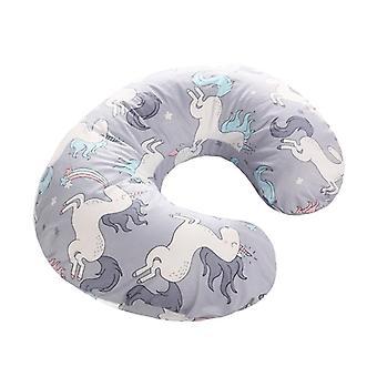 Cubierta de la almohada del bebé- niños cartoon print U forma almohada Funda deslizante, recién nacido cómodo