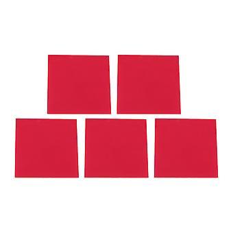 5 x klart akryl ark for DIY rød gjennomsiktig 8x8x0.23cm