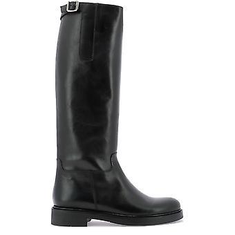 Guglielmo Rotta 3942ccalfnero Women's Black Leather Boots