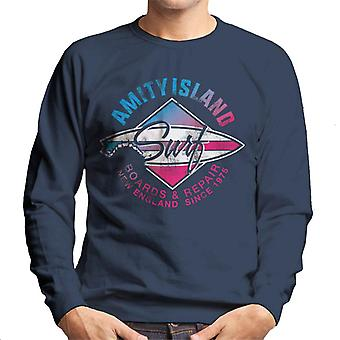 Jaws Amity Island Surf Boards And Repair Men's Sweatshirt