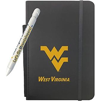 """1263M, Greeting Pen West Virginia Mountaineers 5"""" X 8.25"""" Notebook And 1 Rotating Message Pen Set (1263M)"""