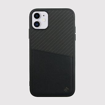 Carbon black iphone 11 case with card holder