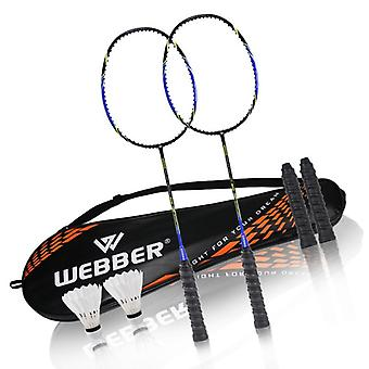 Professional Badminton Rackets Set, Including Shuttlecock Racket Bag And