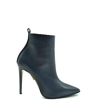 Ninalilou Ezbc115022 Women's Blue Leather Ankle Boots