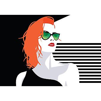 Foto veggmaleri pop art mote kvinne