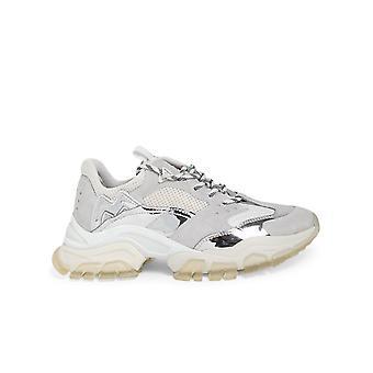 Moncler 4m7080002sr5001 Mujeres's Zapatillas de cuero blanco