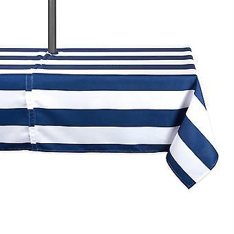 Tovaglia da esterno Dii Nautical Blue Cabana Stripe con cerniera