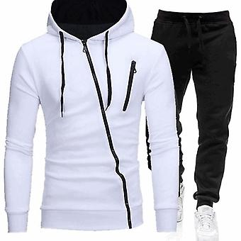 Heren's Autumn Winter Hoodie+broek Two Pieces Sets Casual Trainingspak Sportkleding