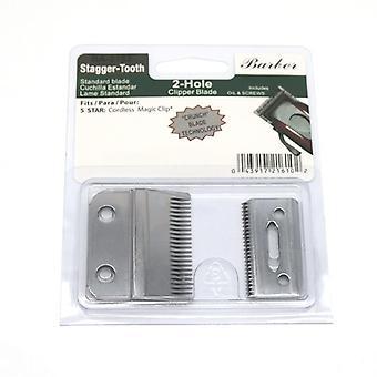 Professionell Stagger-tand 2-håls Clipper Blade