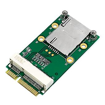 Mini PCI-E Adapter with SIM Card Slot for 3G/4G Desktop PC Laptop Green