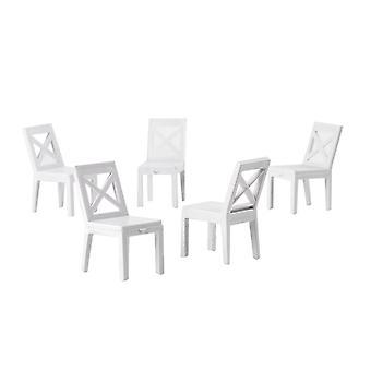 Sedia Dollhouse 5 pezzi Mini sedia mobili soggiorno sedia da pranzo per fai-da-te