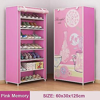 Multilayer Shoe Rack, Detachable Dustproof Nonwoven Fabric Shoe Cabinet And