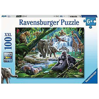 Ravensburger Puzzle Jungle Families XXL 100 pezzi
