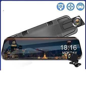 Dvr Streaming Media Mirror Dash Cam Video Recorder Dual Lens Support 1080p
