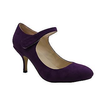 LOSLANDIFEN Black Heels for Women,Chic Pointed Toe Mid Kitten Heels Suede Dre...