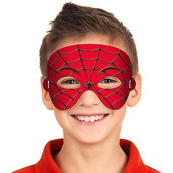 Verkleedmasker Spiderman Jongens 21 Cm Foam Rood / Zwart