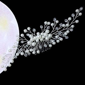 Peignes de cheveux de peals en cristal, accessoires de clips de mariage, bijoux faits à la main, femmes