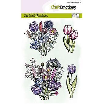 Artesanato Clear Stamps A6 - Tulip Bouquet