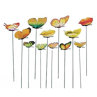 Garden Yard Planter Whimsical Butterfly Stakes Decoration