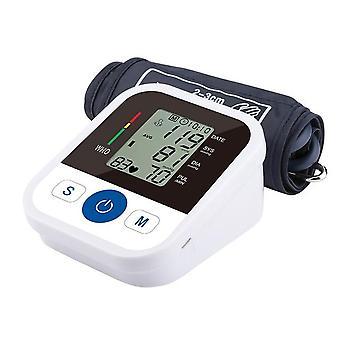 ضغط الدم رصد tensiometer الذراع العلوي التلقائي الرقمية BP آلة نبض نبض القلب مراقبة معدل ضغط الدم