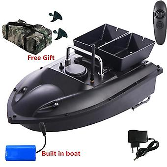Rc Fishing Boat, Double Hopper, Dual Night Light, Fixed Speed, Cruise Automatic