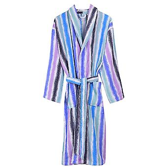 Bown of London Sunset Stripe Luxury Dressing Gown - Blue/Multi-colour