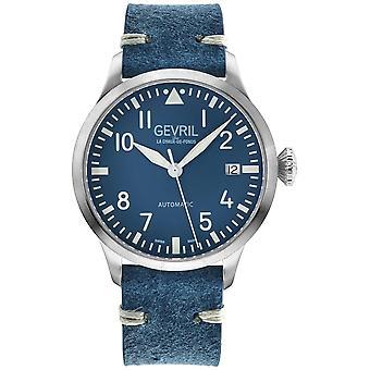Gevril Vaughn Automatic Blue Dial Men's Watch 43501