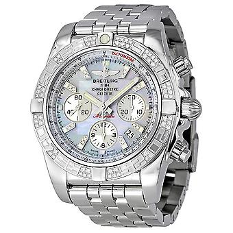 Breitling Chronomat 44 Mother of Pearl Diamond Men's Watch AB0110AA-G686SS
