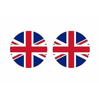 2x klistermärke klistermärke rund cocarde flagga uk Engelska kungariket uni union jack