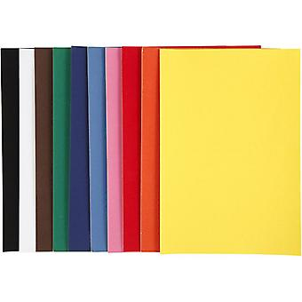 Creativ Velour Paper A4 140g 10 Sheets - Assorted Colours
