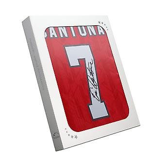 Eric Cantona Signed 1994 Manchester United Shirt. Gift Box