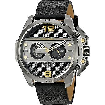 שעון גברים אנלוגי דיזל עם רצועת עור DZ4386