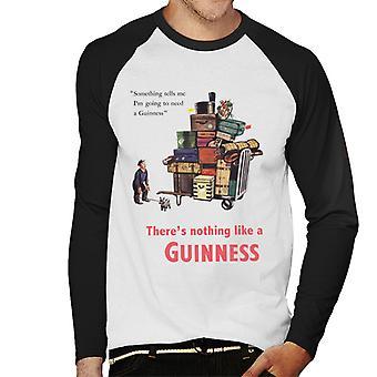 Guinness Theres Nothing Like A Guinness Men's Baseball Long Sleeved T-Shirt