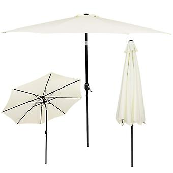 Garden parasol 300 cm Yellow with slope function - foldable parasol
