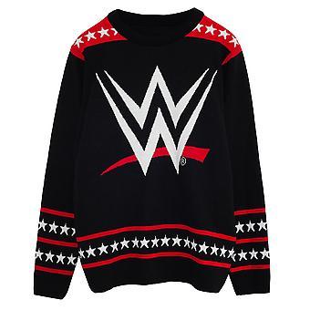 WWE Womens/Ladies Logo Knitted Jumper