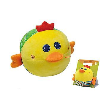 Activiteit bal Chick, baby knuffel met rammelaar van 6 maanden