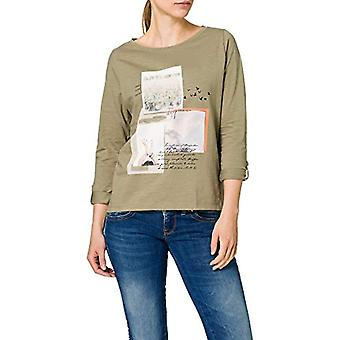 edc by Esprit 021CC1K303 T-Shirt, 345/kaki Chiaro, XL Donna