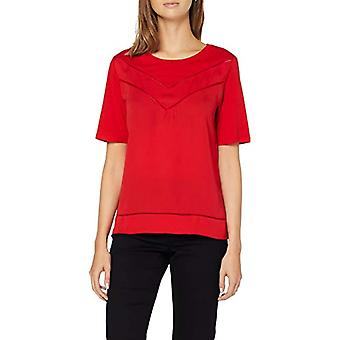 Scotch & Soda Maison Woven And Jersey Mixed Tee with Ladder Tapes T-Shirt, (Paris Red 3229), Medium Donna