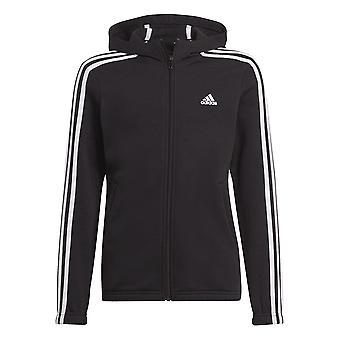 Adidas Girls Essentials 3-stripes Full-zip Hoodie