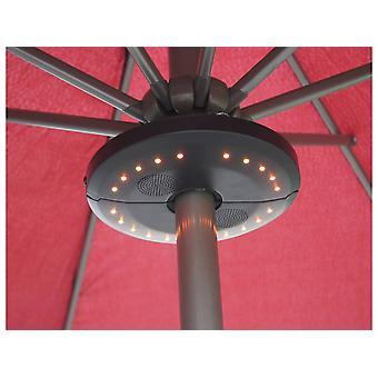 "Sonnenschirmbeleuchtung ""Umbrella"" - Bluetooth-Lautsprecher mit LED-Beleuchtung -20 x H3 cm"